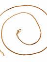 Xinxin Kvinnors 45cm 18K guld zirkon halsband XL0022