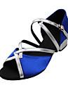 Chaussures de danseNon Personnalisables-Talon Bas-Satin-Latine Salon