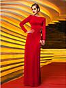 Coloană / Teacă Bijuterie Lungime Podea Tricot Seară Formală Bal Militar Rochie cu Pliuri de TS Couture®