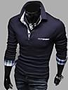 Bărbați cu maneci lungi moda casual Cămașă Polo T
