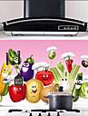 Motif de légumes laser étanche Oilproof Cuisine Stickers muraux