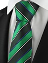 New dungi verde Mens Tie Cravată costum formal Partidul de nunta de vacanță de cadouri