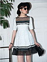 TS Vintage 3D Organza Hem Dress