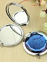 Personnalisé de modèle de fleur cadeau Chrome miroir compact