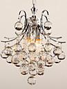 Max 40W Lampe suspendue ,  Contemporain Chrome Fonctionnalité for Cristal Plastique Salle de séjour / Chambre à coucher