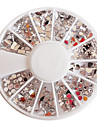 Mixed-mönster Acryl Diamond Wheel Nail Art Dekorationer