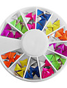 Mixed Candy Color Fluorescent Triangle Nail Art Dekorationer