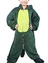 Kigurumi Pyjamas Dinosaurie Leotard/Onesie Halloween Animal Sovplagg Grön Lappverk Flanell Kigurumi Barn Halloween
