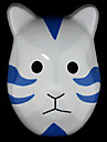 Mask Inspirerad av Naruto Madara Uchiha Animé Cosplay Accessoarer Mask Vit / Blå PVC Man