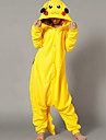 kigurumi Pyjamas Pika Pika Collant/Combinaison Fête / Célébration Pyjamas Animale Halloween Jaune Mosaïque Polaire Kigurumi Pour Unisexe