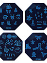1PCS Halloween Nail Art Stamp Stamping Blue Image Template Plate HD Series NO.7-10 (Assorted Colors)