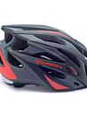 Hjälm (Röd / Svart , PC / eps) - Half Shell) - till Cykling / Bergscykling / Vägcykling / Rekreation Cykling - Unisex 21 Ventiler