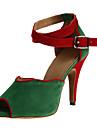Chaussures de danse(Multicolore) -Non Personnalisables-Talon Personnalisé-Satin-Latine Salon