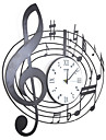 """21.5 """"H style contemporain Horloge murale en métal"""
