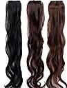 19 tums klipp i syntetiskt hår förlängningar löshår 3 färger