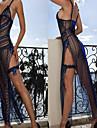 Robe sexy de Bachelorette G World 3pc. Lingerie sexy uniforme de nuit de femmes bleues