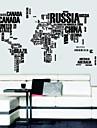 Brev karta över World väggdekaler Avtagbar Wall Stickers