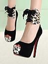 kvinnors skor plattformen stilett klack mocka pumpar skor fler färger tillgängliga
