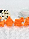 Plastic 3D Baby Around Cookie Mould Set de 4 buc