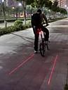 Eclairage de Vélo / bicyclette Lampe Arrière de Vélo LED Laser Cyclisme Etanche Tête crénelée Avertissement Lumens Batterie