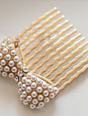MISS U Kvinnors Vintage Pearl Bow Diamonade Claws