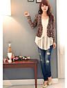 femei leopard de moda model scurt blazer subțire