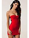 Femei Body-îmbrățișându Temptress Mini rochie în roșu