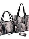 Fenghui Women'S Pu Läder Axelväska Aftonväska Small Bag Tote Fyra Piece Set
