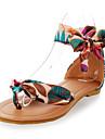 damskor bekväm satinband vid ankeln platta hälen sandal fler färger tillgängliga