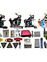 4 maskiner komplett tattoo kit med fri gåva av 20 tatueringsfärger