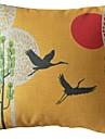 La grue et le soleil coussin décoratif couverture