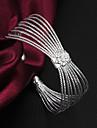 De înaltă calitate elegant de argint argint-placat cu flori Loopy încătușat Bratari