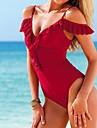 Moda pentru femei Pure Color Set Sexy Lace Edge Beach dintr-o bucata Costume de baie