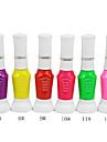 À double usage Nail Art Pen avec des ongles Brosse & Fine Nib Pen No.7-12 (1PCS, 10ml, couleurs assorties)