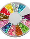 12-Color Hollow Blandat Formad Loving Star Heart Nail Art Dekorationer