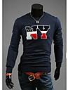 Bărbați cultiva moralitatea gât maneca lunga T-shirt