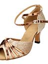 Jolies chaussures mousseux Glitter boucle cheville Sandales de danse latine de la femme