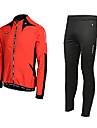MOON Cyclisme automne et d'hiver Costume en laine polaire manches longues vélos Jersey avec joint silicone