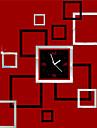 """22 """"H Modern akryl Block Mirror Väggklocka"""