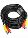 65 Feet BNC videokabel med ström Wire för Bevakningskameror