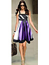 Zoey femei satins bandă rochie violet