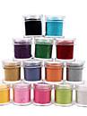 1PCS Velvet Nail Art Decorative Powder (blandade färger)