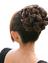 Brown ondulées extensions de cheveux d'une bande élastique liée lumière synthétique