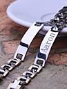 Personlig Present Män smycken Rostfritt stål Graverade ID Armband 1.1cm Bredd
