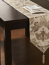Concise broderie d'or Beige Table Runner Polyester