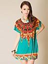 Imprimate stras Peacock pene rochie de Femei din Asia de Sud-Est (de croitorie aleatorie)