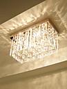 Takmonterad ,  Modern Rektangulär Särdrag for Kristall Metall Vardagsrum Sovrum Dining Room