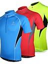 Arsuxeo® Maillot de Cyclisme Homme Manches courtes Vélo Respirable / Séchage rapide / Design Anatomique / Zip frontal Maillot / Hauts/Tops