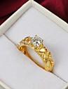 De înaltă calitate de moda placată cu aur, rotund Ring Clear stras Pierce femei
