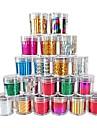 Autocollants 1PCS Laser Foil Décorations Nail étoilées (120x2.5x0.1cm, couleurs assorties)